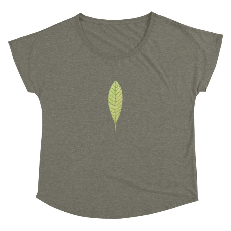 GREEN LEAF Women's Scoop Neck by IF Creation's Artist Shop