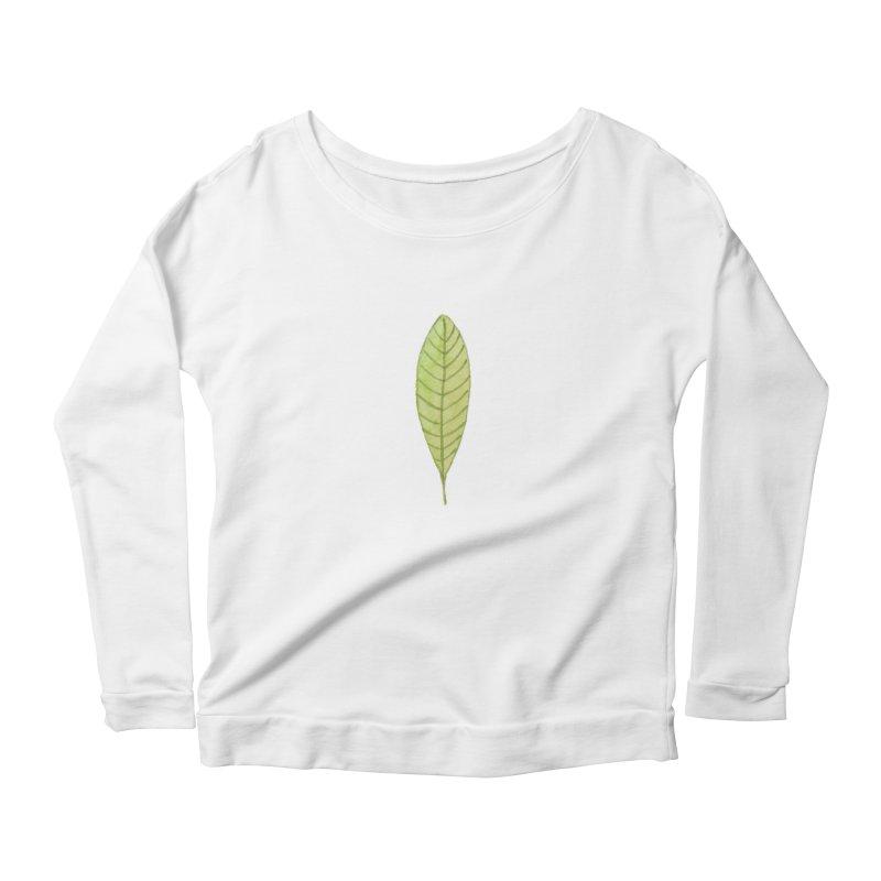 GREEN LEAF Women's Scoop Neck Longsleeve T-Shirt by IF Creation's Artist Shop