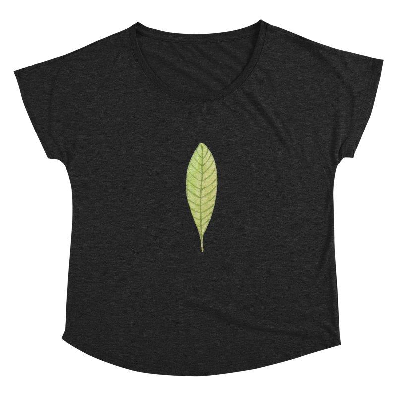 GREEN LEAF Women's Scoop Neck by IF Creation's Artist Shop