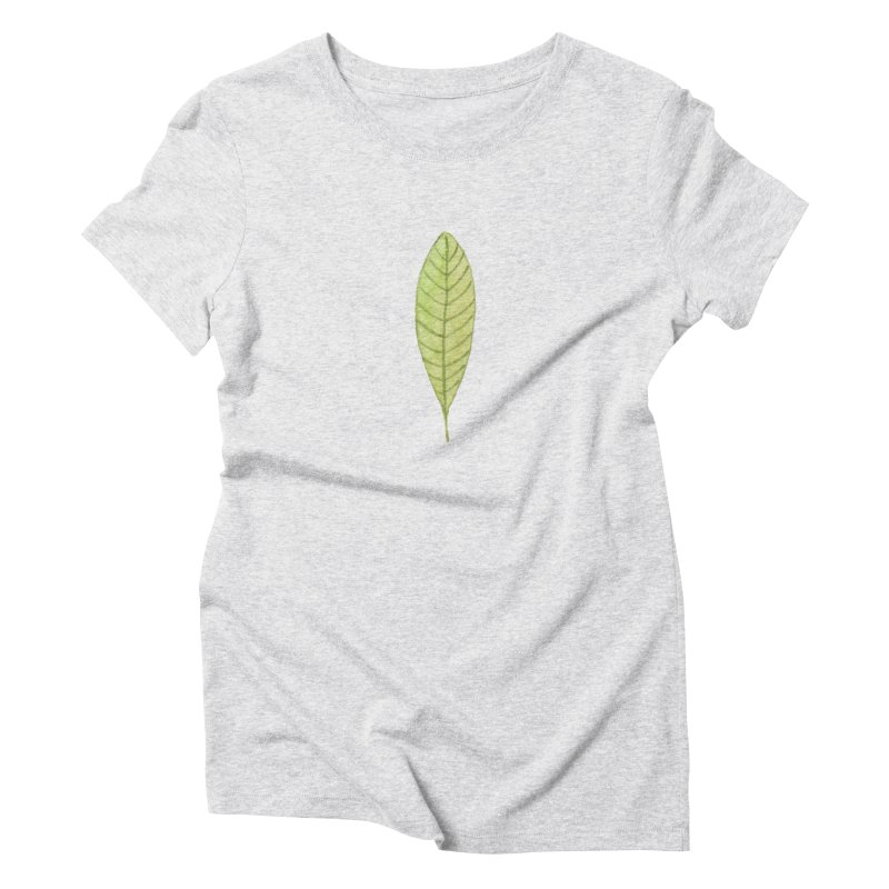 GREEN LEAF Women's Triblend T-Shirt by IF Creation's Artist Shop