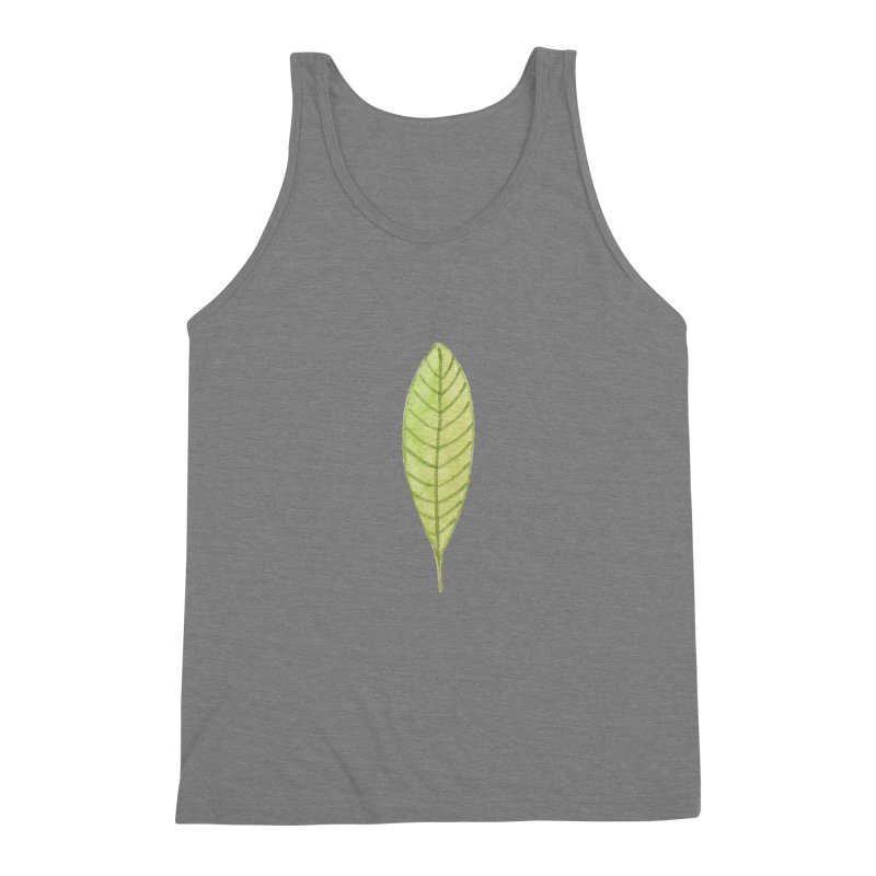 GREEN LEAF Men's Triblend Tank by IF Creation's Artist Shop