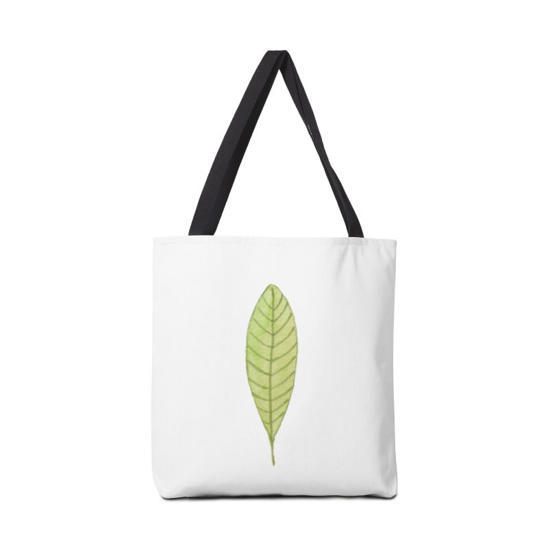GREEN LEAF Accessories Tote Bag Bag by IF Creation's Artist Shop