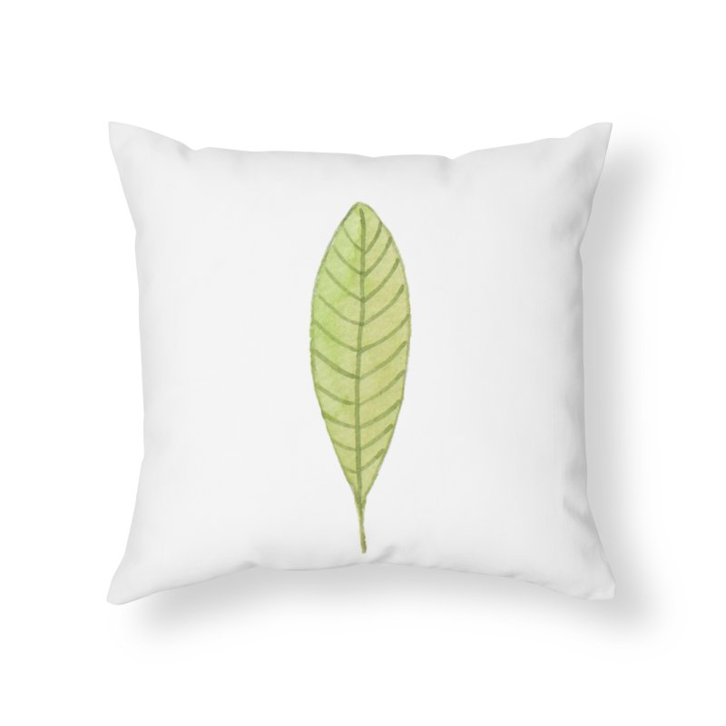 GREEN LEAF Home Throw Pillow by IF Creation's Artist Shop