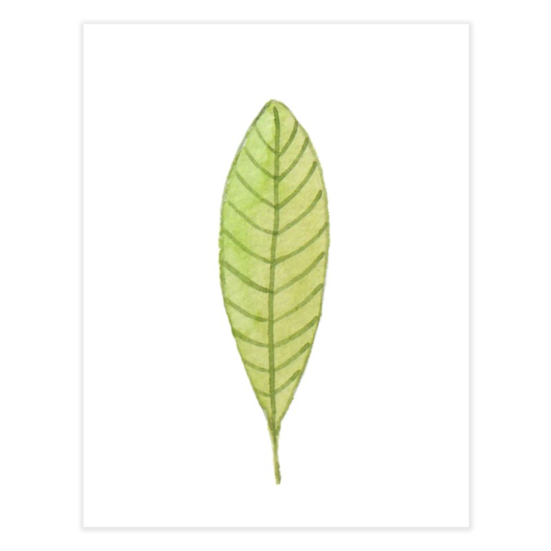 GREEN LEAF Home Fine Art Print by IF Creation's Artist Shop