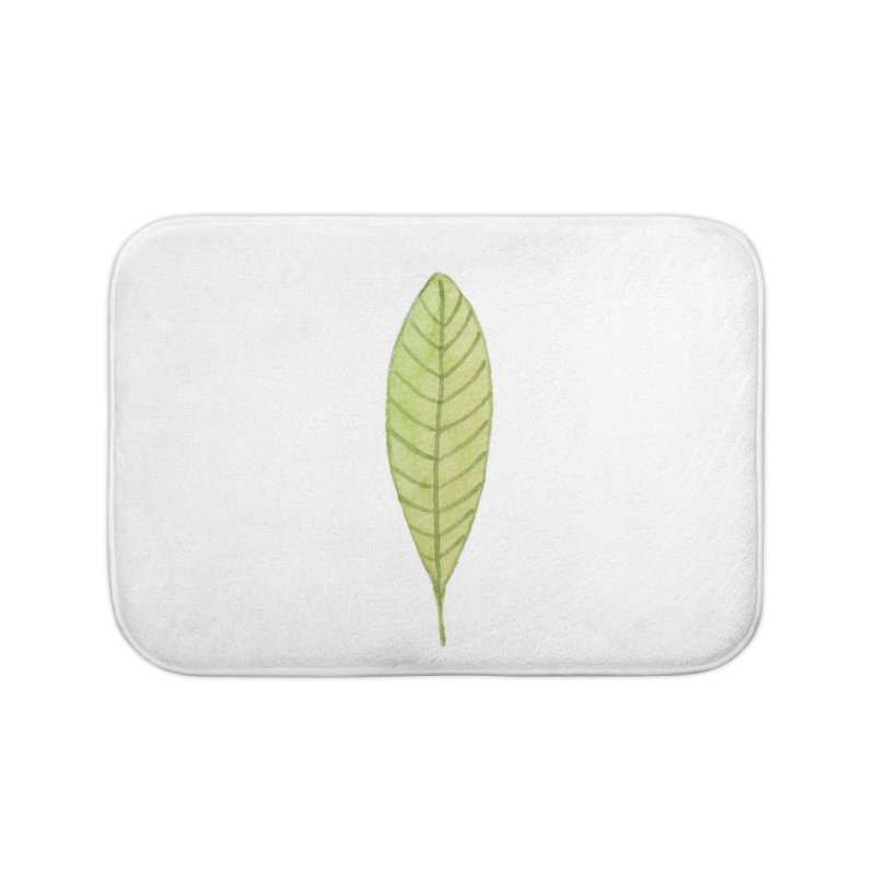 GREEN LEAF Home Bath Mat by IF Creation's Artist Shop