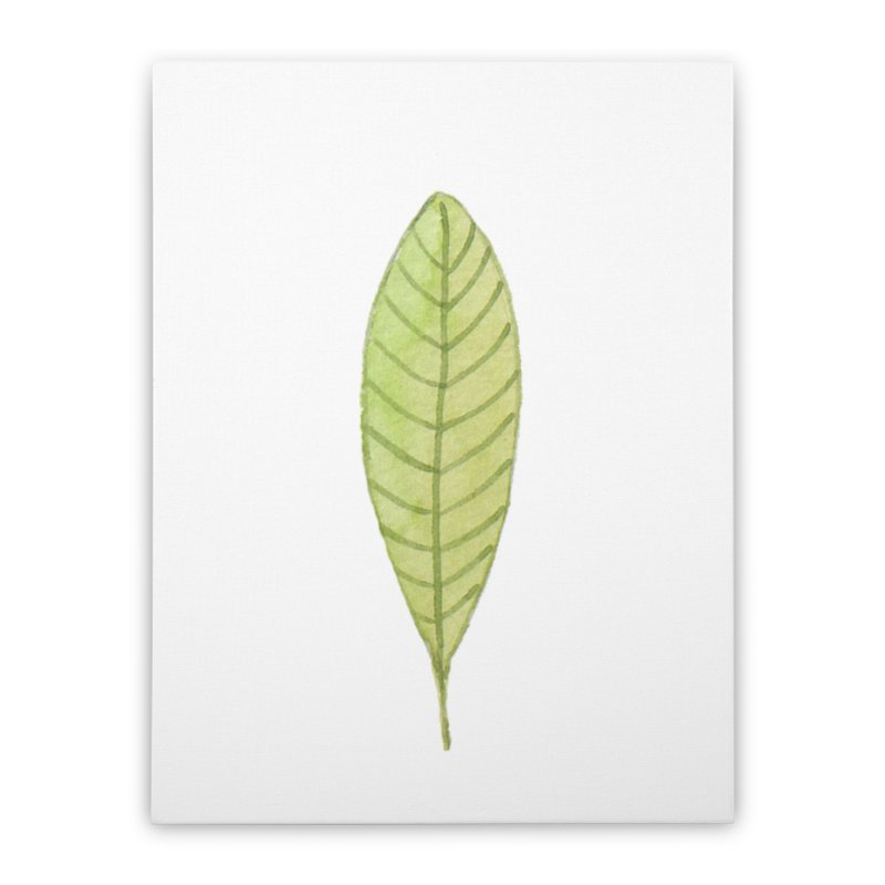 GREEN LEAF Home Stretched Canvas by IF Creation's Artist Shop