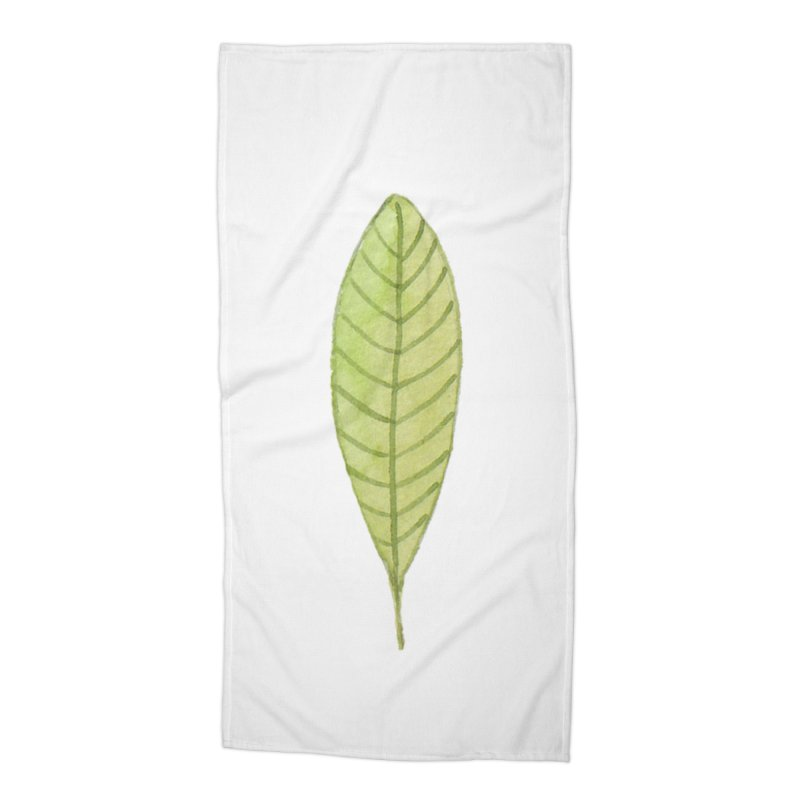 GREEN LEAF Accessories Beach Towel by IF Creation's Artist Shop