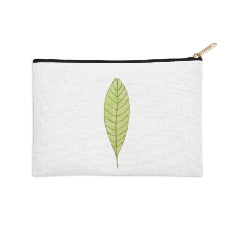 GREEN LEAF Accessories Zip Pouch by IF Creation's Artist Shop