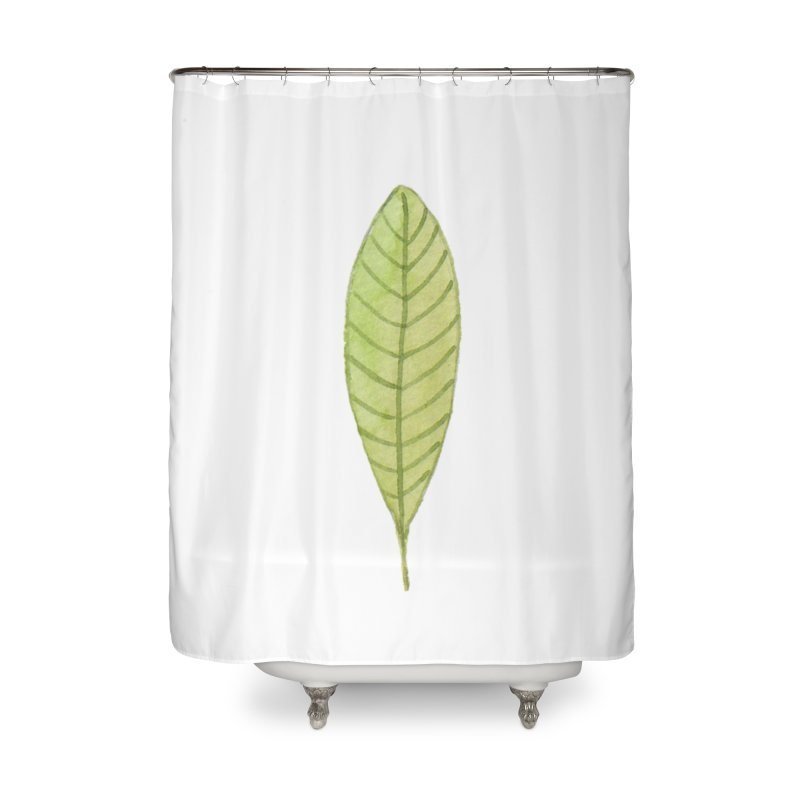 GREEN LEAF Home Shower Curtain by IF Creation's Artist Shop