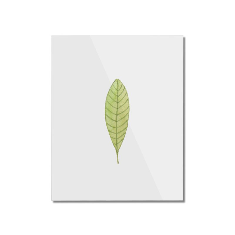 GREEN LEAF Home Mounted Acrylic Print by IF Creation's Artist Shop