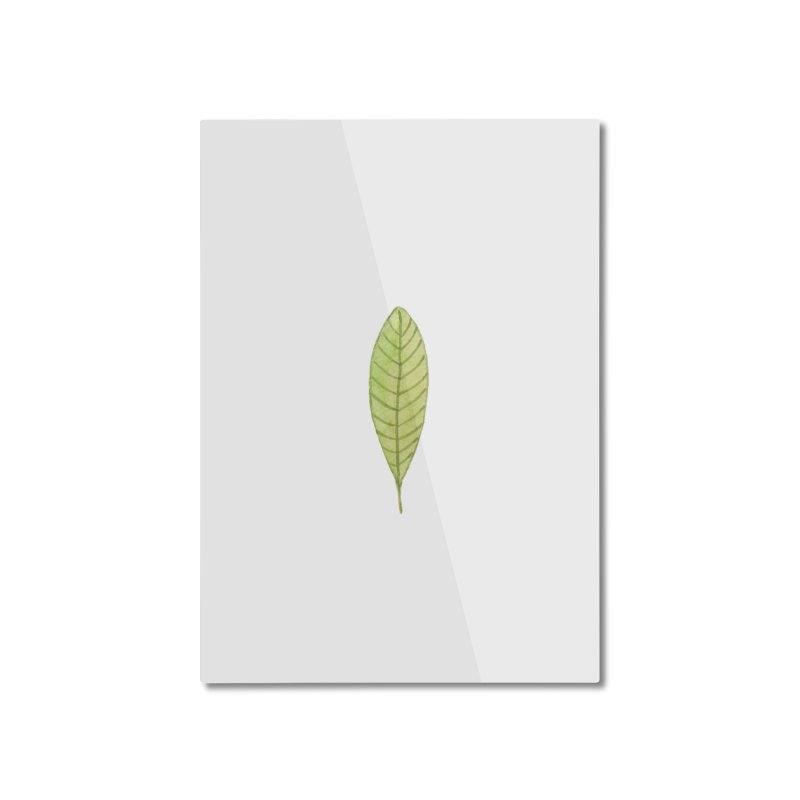 GREEN LEAF Home Mounted Aluminum Print by IF Creation's Artist Shop