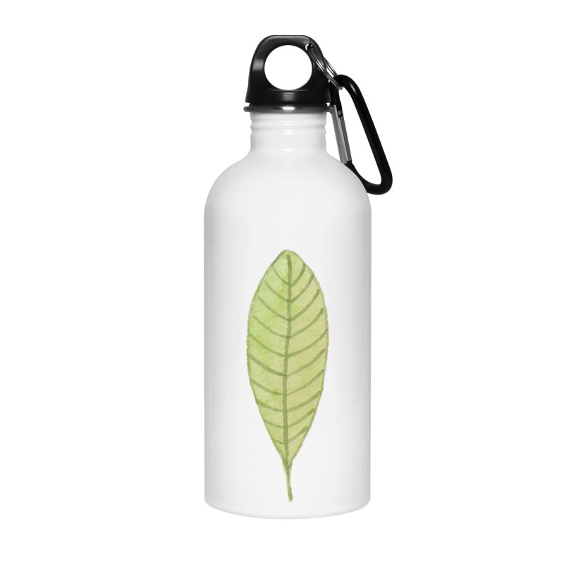 GREEN LEAF Accessories Water Bottle by IF Creation's Artist Shop