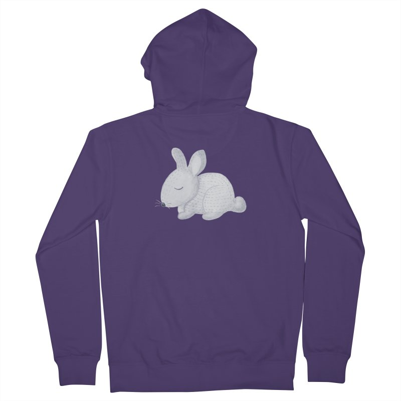 BUNNY Women's French Terry Zip-Up Hoody by IF Creation's Artist Shop