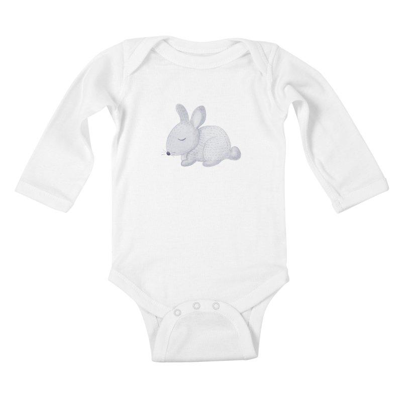 BUNNY Kids Baby Longsleeve Bodysuit by IF Creation's Artist Shop