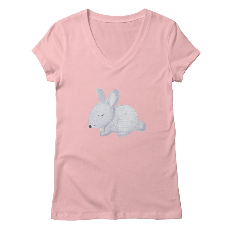 BUNNY Women's V-Neck by IF Creation's Artist Shop