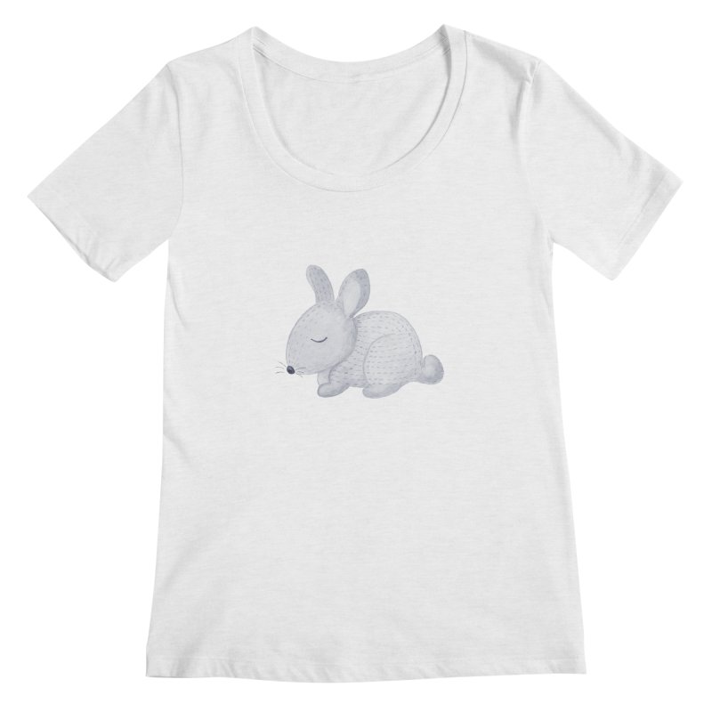 BUNNY Women's Scoop Neck by IF Creation's Artist Shop