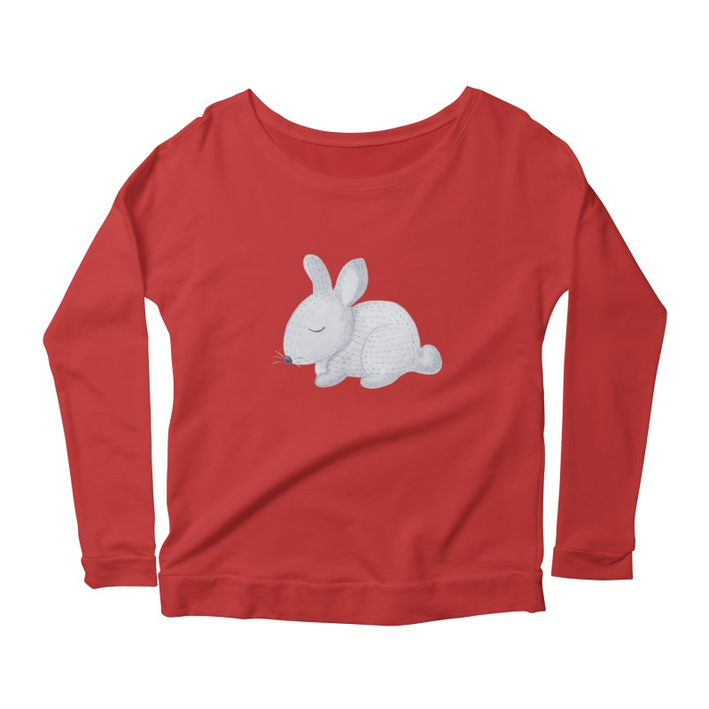 BUNNY Women's Longsleeve Scoopneck  by IF Creation's Artist Shop