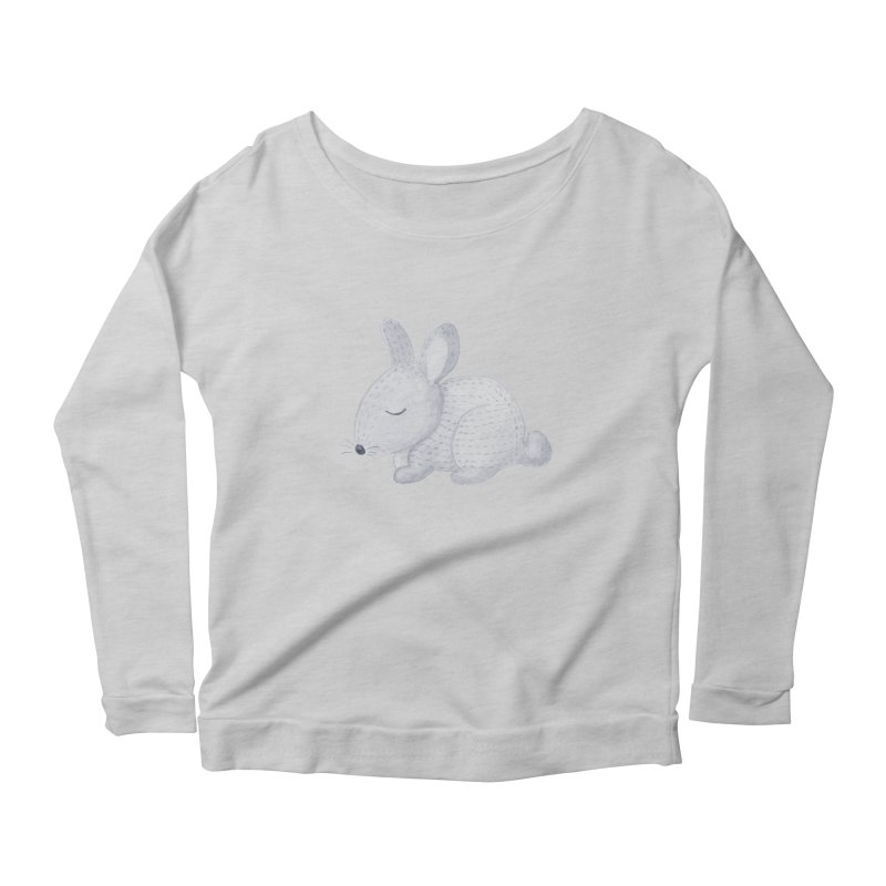 BUNNY Women's Scoop Neck Longsleeve T-Shirt by IF Creation's Artist Shop
