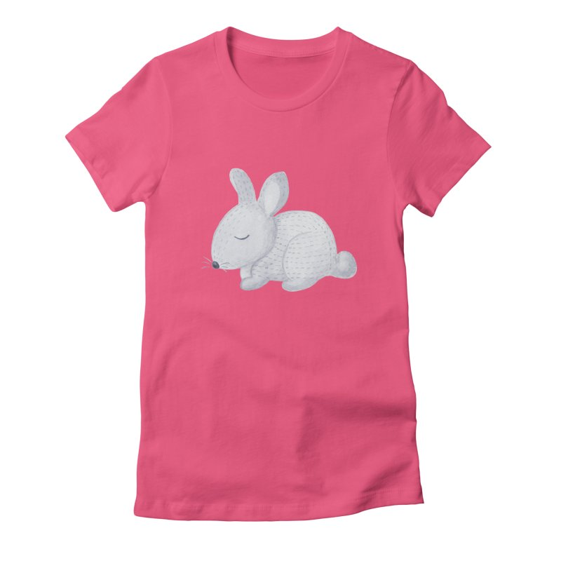 BUNNY Women's Fitted T-Shirt by IF Creation's Artist Shop