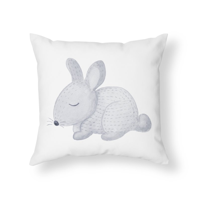 BUNNY Home Throw Pillow by IF Creation's Artist Shop