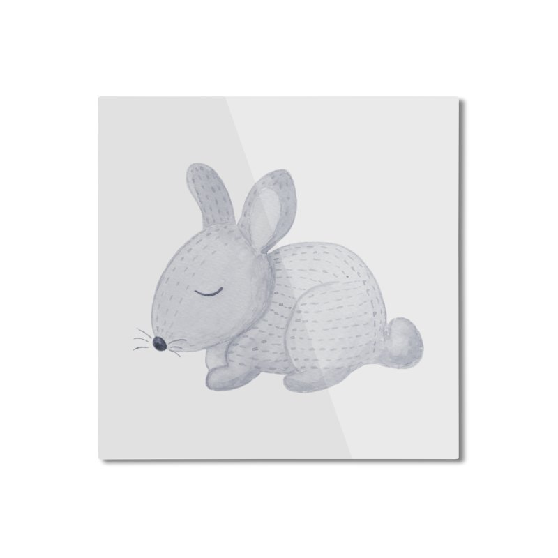 BUNNY Home Mounted Aluminum Print by IF Creation's Artist Shop
