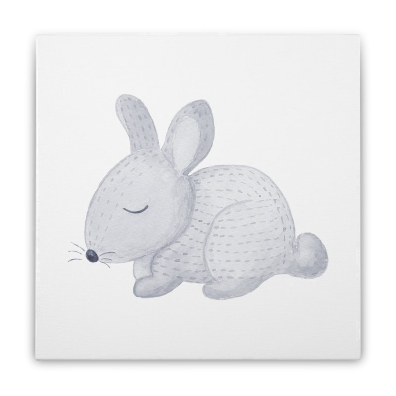 BUNNY Home Stretched Canvas by IF Creation's Artist Shop