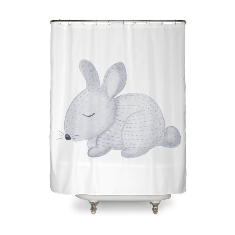 BUNNY Home Shower Curtain by IF Creation's Artist Shop