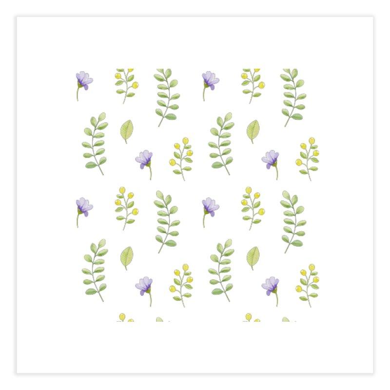 Purple Flowers & Leafs Home Bath Mat by IF Creation's Artist Shop