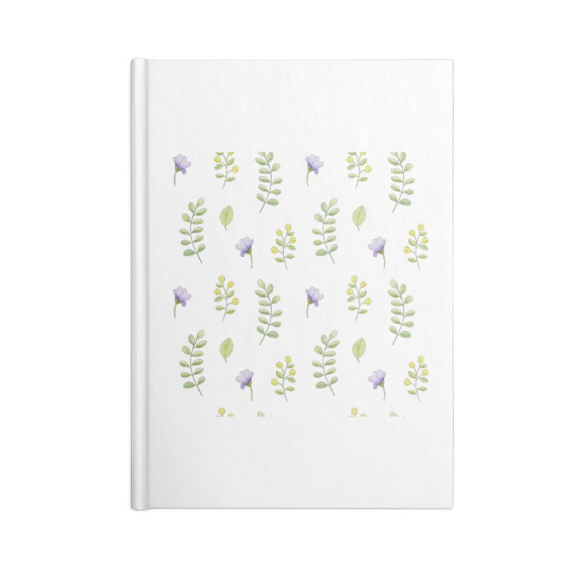 Purple Flowers & Leafs Accessories Notebook by IF Creation's Artist Shop