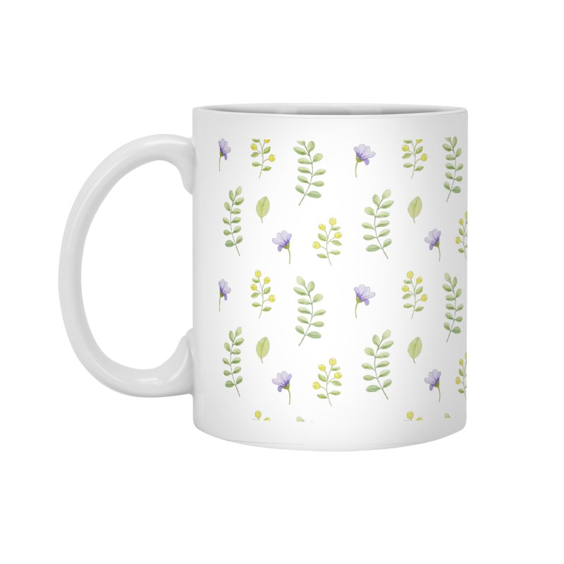 Purple Flowers & Leafs Accessories Mug by IF Creation's Artist Shop
