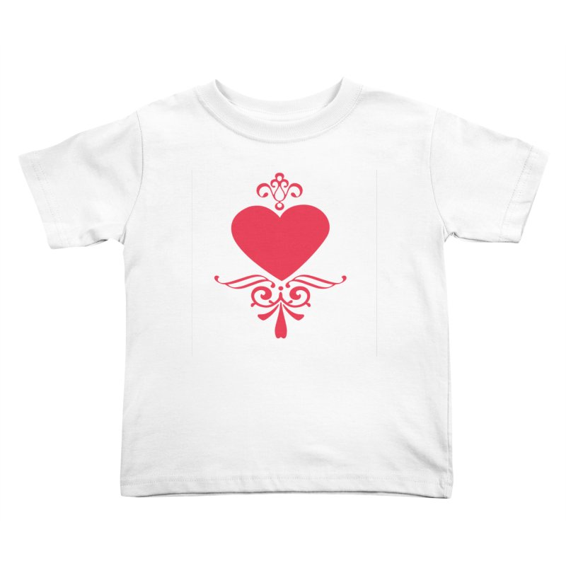 Red Heart Kids Toddler T-Shirt by IF Creation's Artist Shop