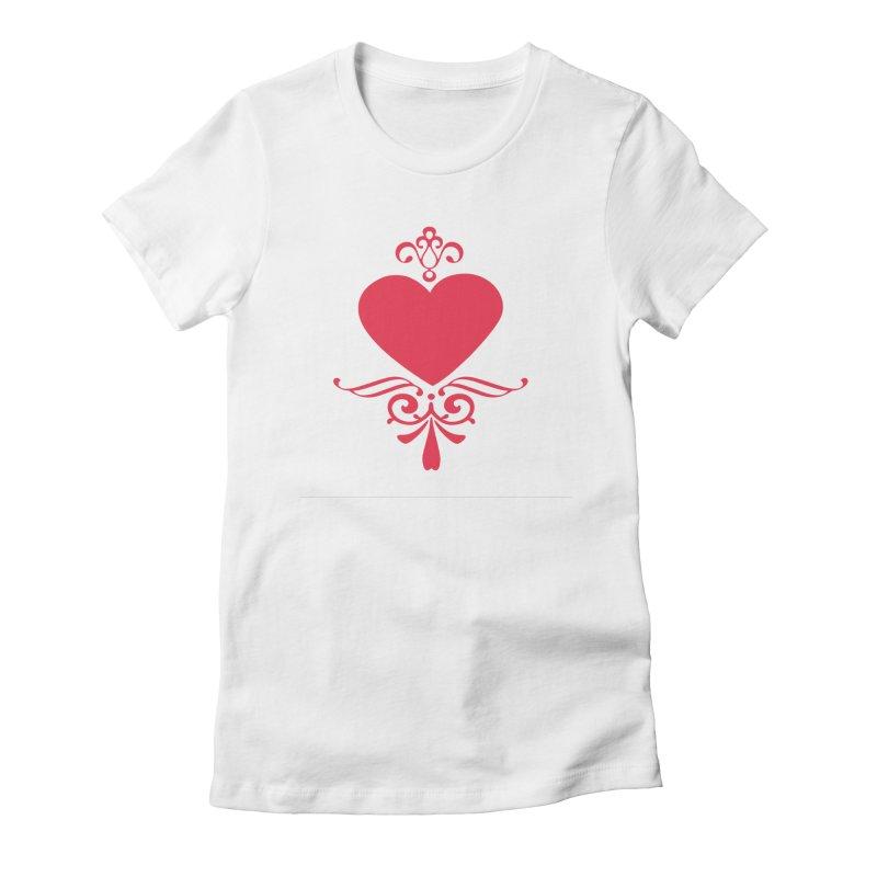 Red Heart Women's T-Shirt by IF Creation's Artist Shop