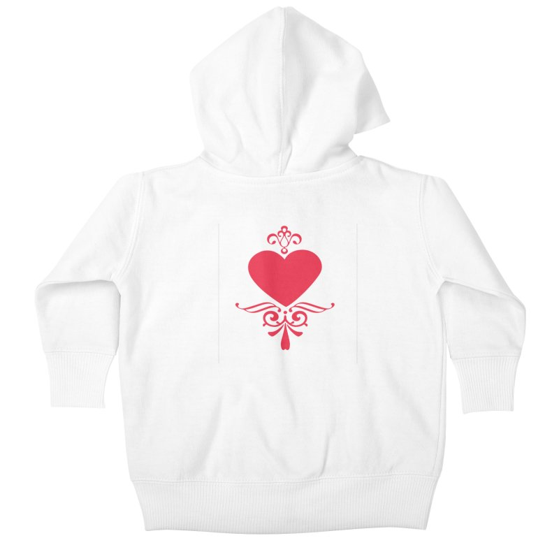Red Heart Kids Baby Zip-Up Hoody by IF Creation's Artist Shop