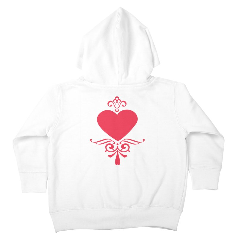 Red Heart Kids Toddler Zip-Up Hoody by IF Creation's Artist Shop