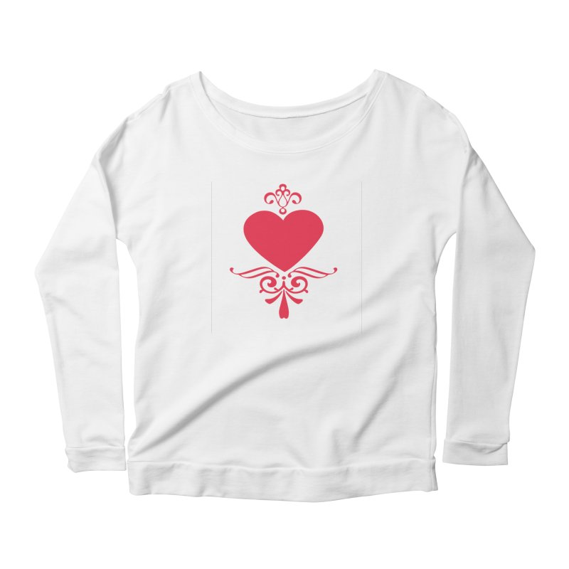 Red Heart Women's Longsleeve T-Shirt by IF Creation's Artist Shop