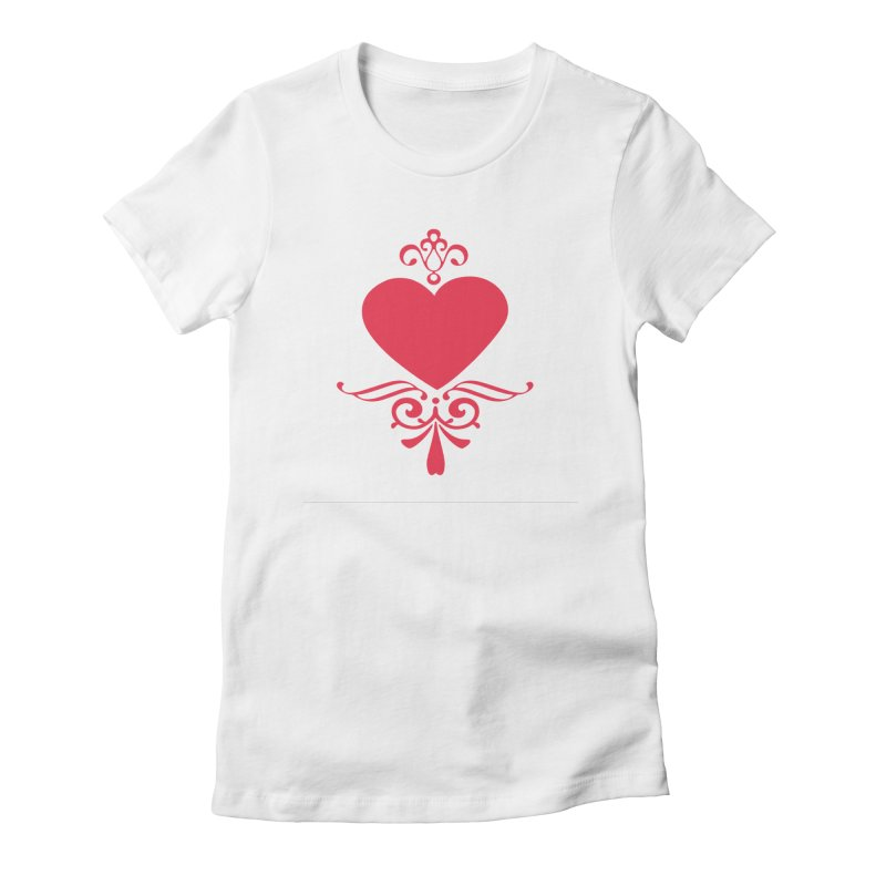 Red Heart Women's T-Shirt by IF Creation's Artist Shop