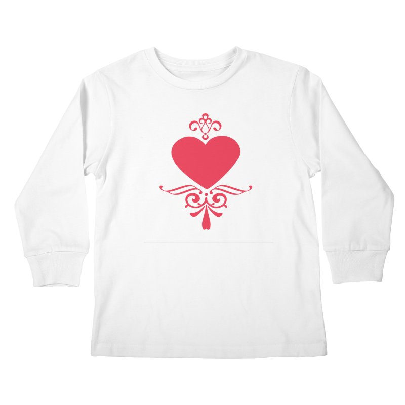 Red Heart Kids Longsleeve T-Shirt by IF Creation's Artist Shop