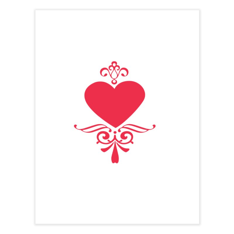 Red Heart Home Fine Art Print by IF Creation's Artist Shop