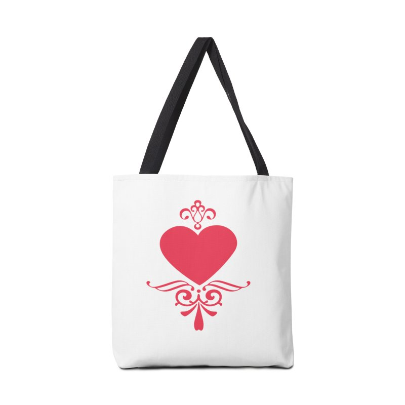 Red Heart Accessories Tote Bag Bag by IF Creation's Artist Shop