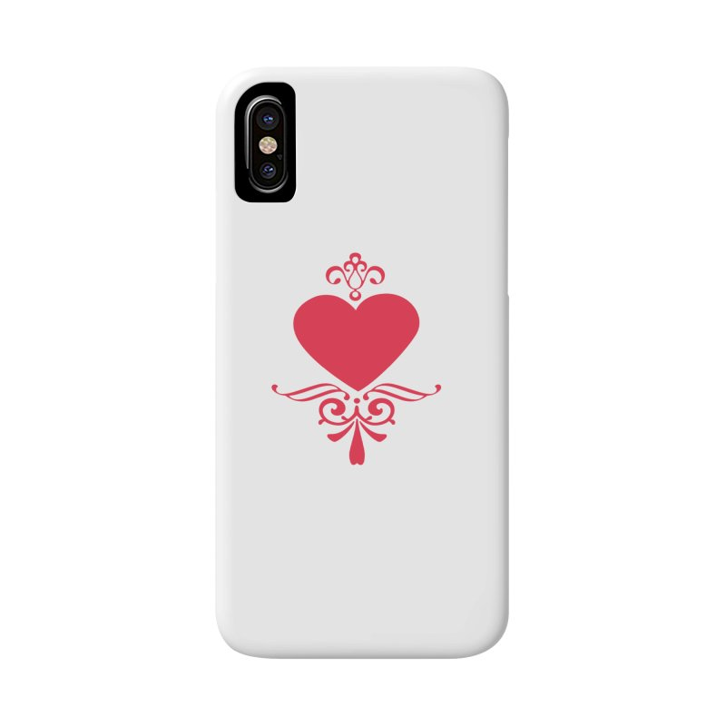 Red Heart Accessories Phone Case by IF Creation's Artist Shop