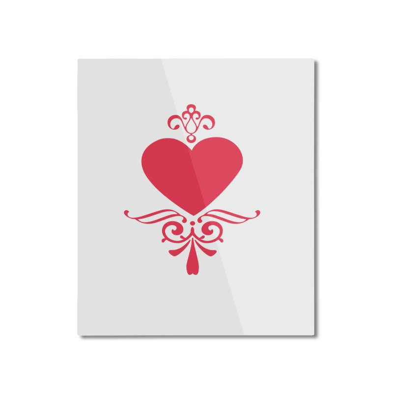 Red Heart Home Mounted Aluminum Print by IF Creation's Artist Shop