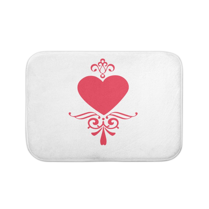Red Heart Home Bath Mat by IF Creation's Artist Shop