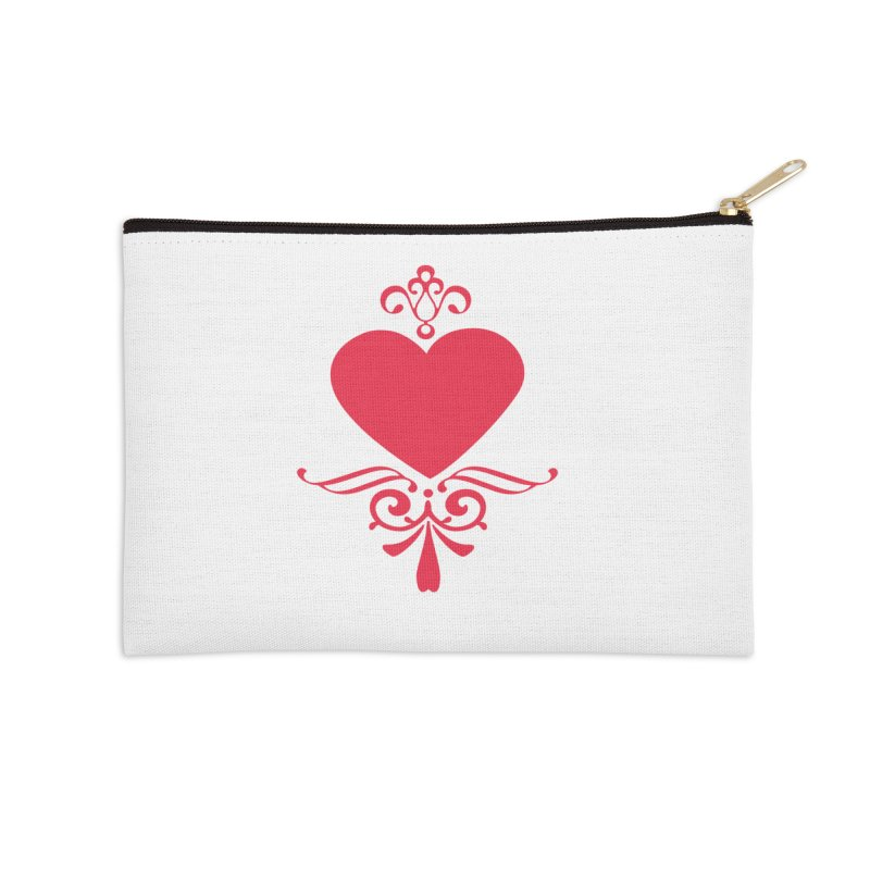 Red Heart Accessories Zip Pouch by IF Creation's Artist Shop
