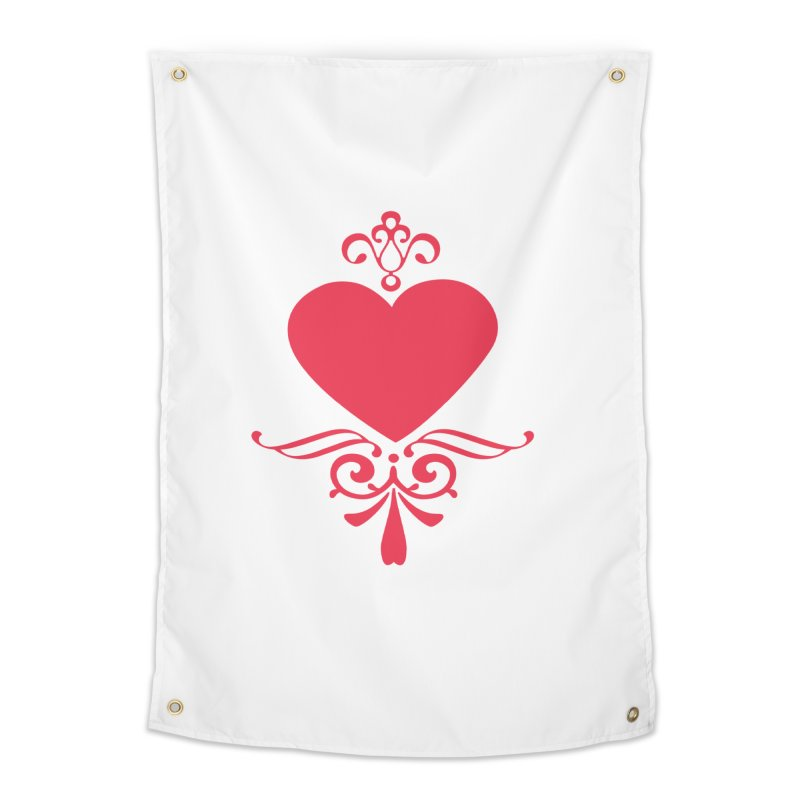 Red Heart Home Tapestry by IF Creation's Artist Shop