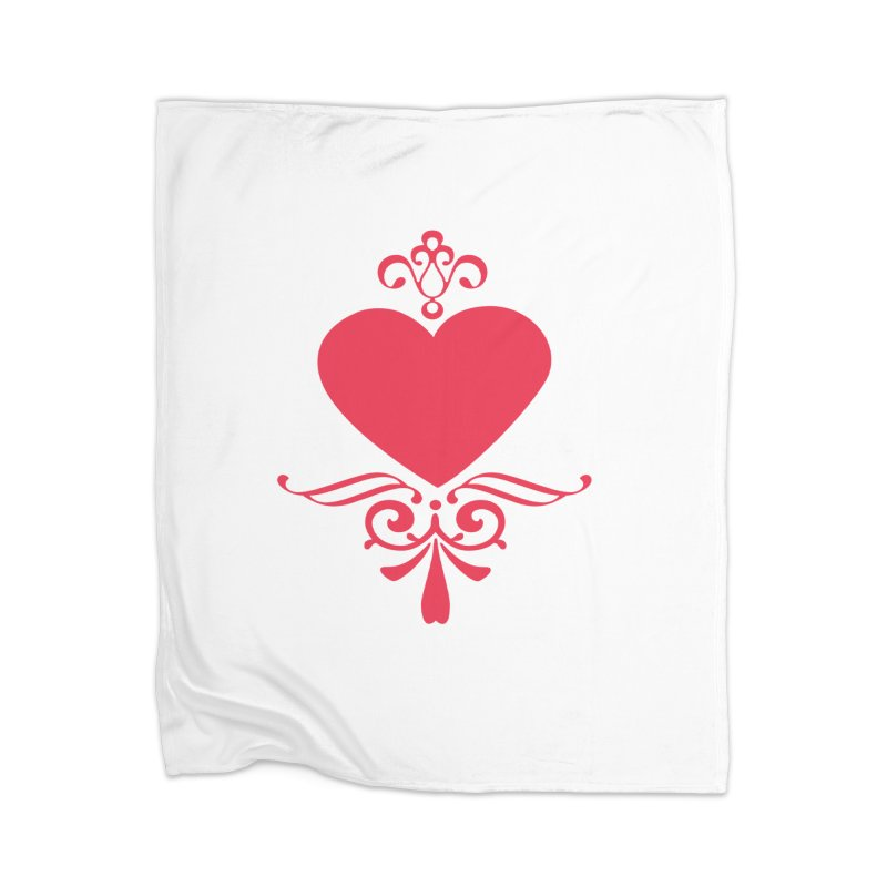 Red Heart Home Blanket by IF Creation's Artist Shop