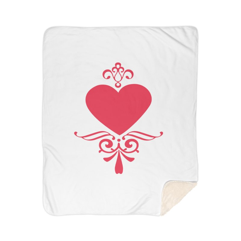 Red Heart Home Sherpa Blanket Blanket by IF Creation's Artist Shop