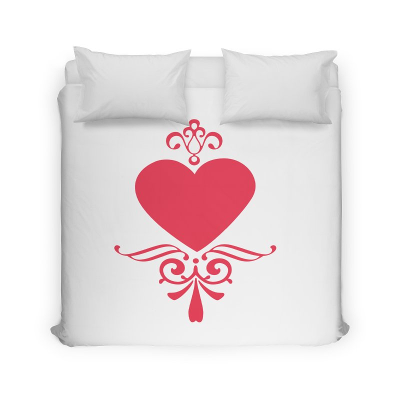 Red Heart Home Duvet by IF Creation's Artist Shop