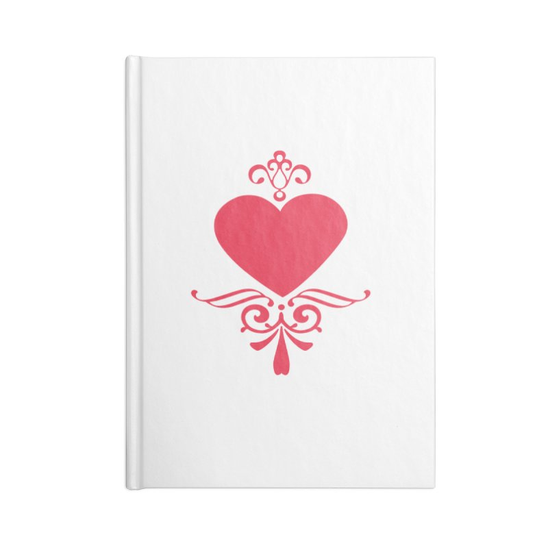 Red Heart Accessories Blank Journal Notebook by IF Creation's Artist Shop