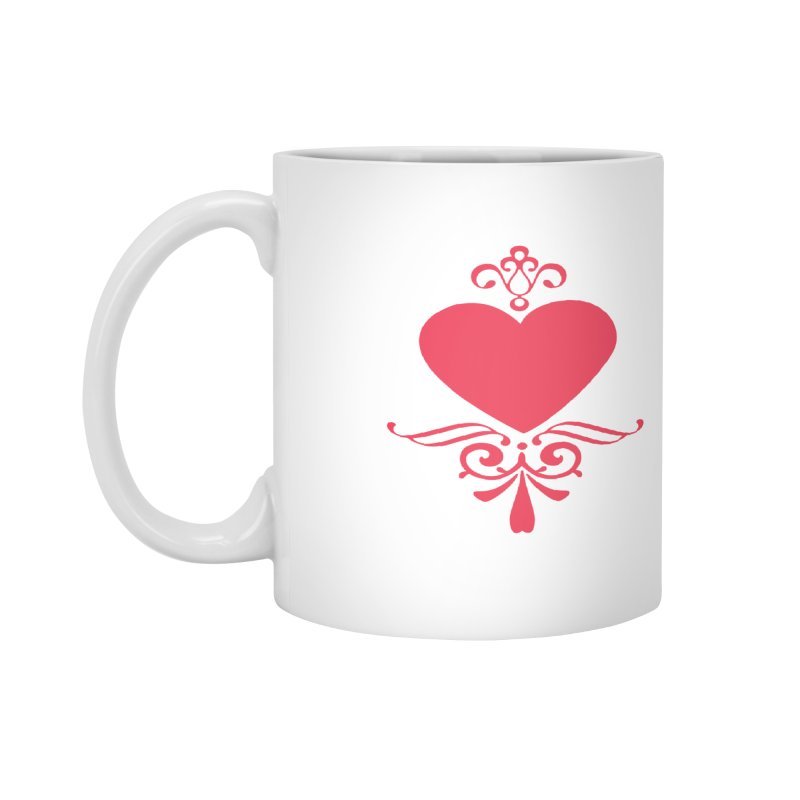 Red Heart Accessories Mug by IF Creation's Artist Shop