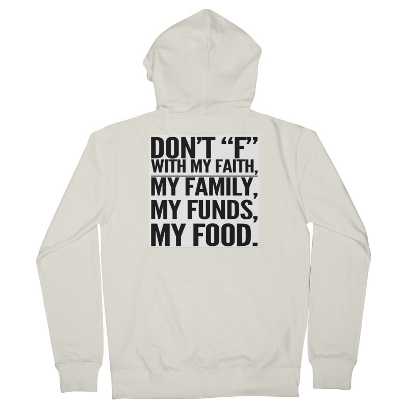 "Don't ""F"" Men's Zip-Up Hoody by IF Creation's Artist Shop"